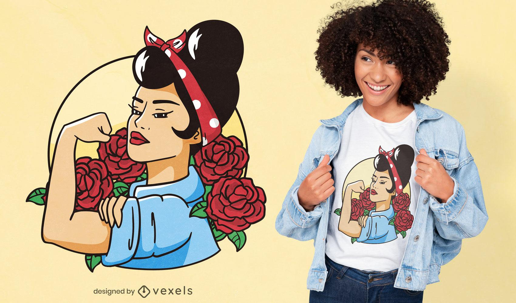 Cooles Rockabilly Rosie T-Shirt Design