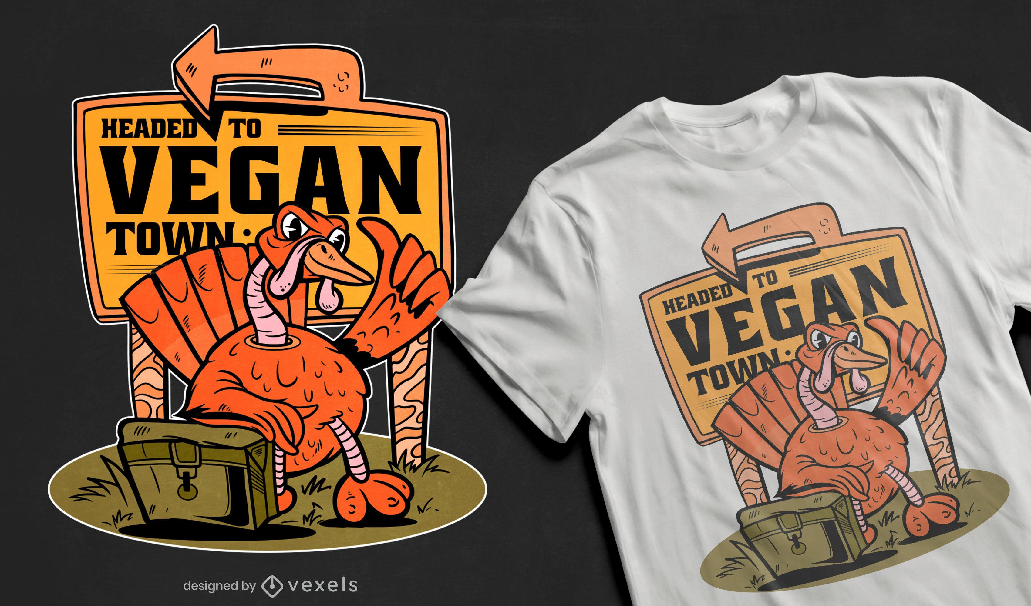 Vegan town t-shirt design