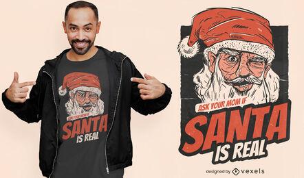 Santa es diseño de camiseta real.