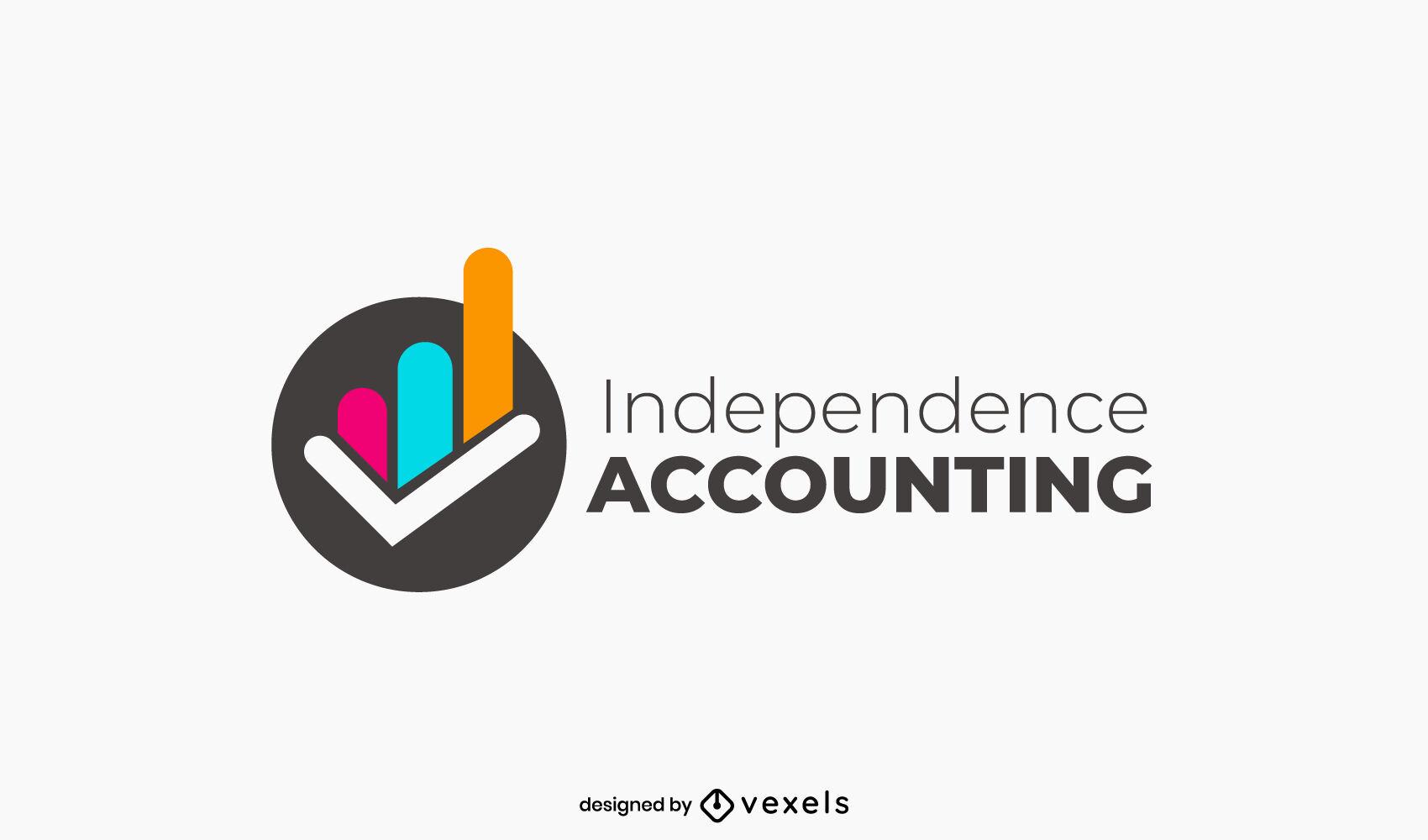 Plantilla de logotipo de formas de gráfico de contabilidad