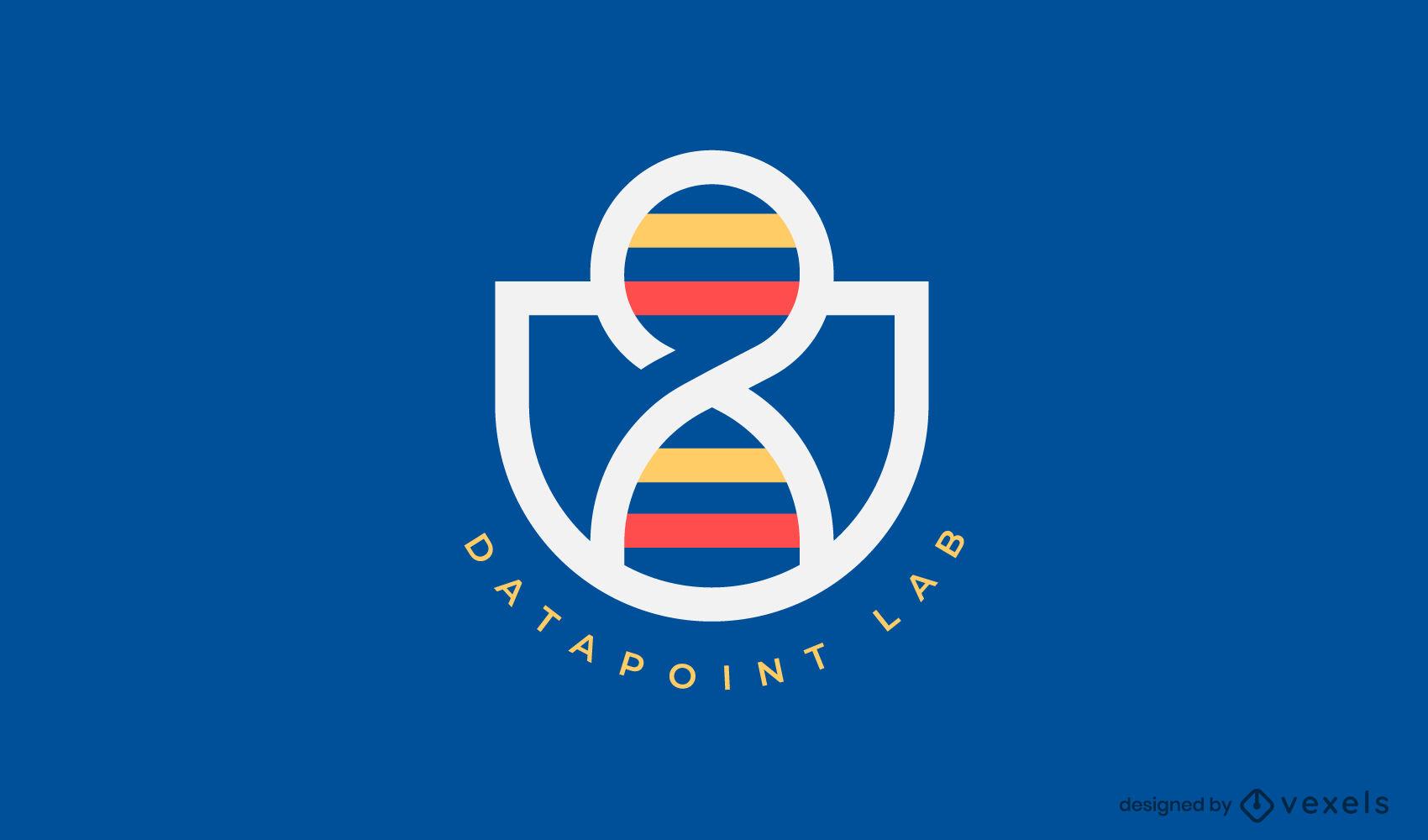 Plantilla de logotipo de formas de laboratorio de ADN