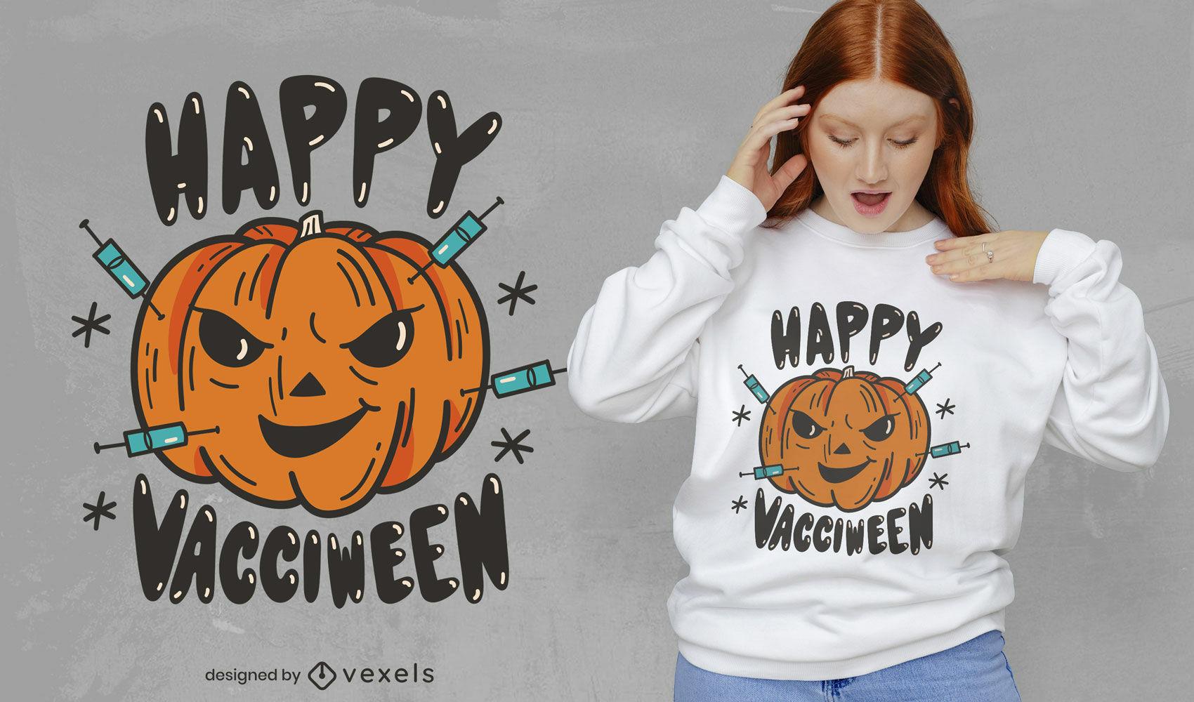 Lustiges Vacciween-T-Shirt-Design