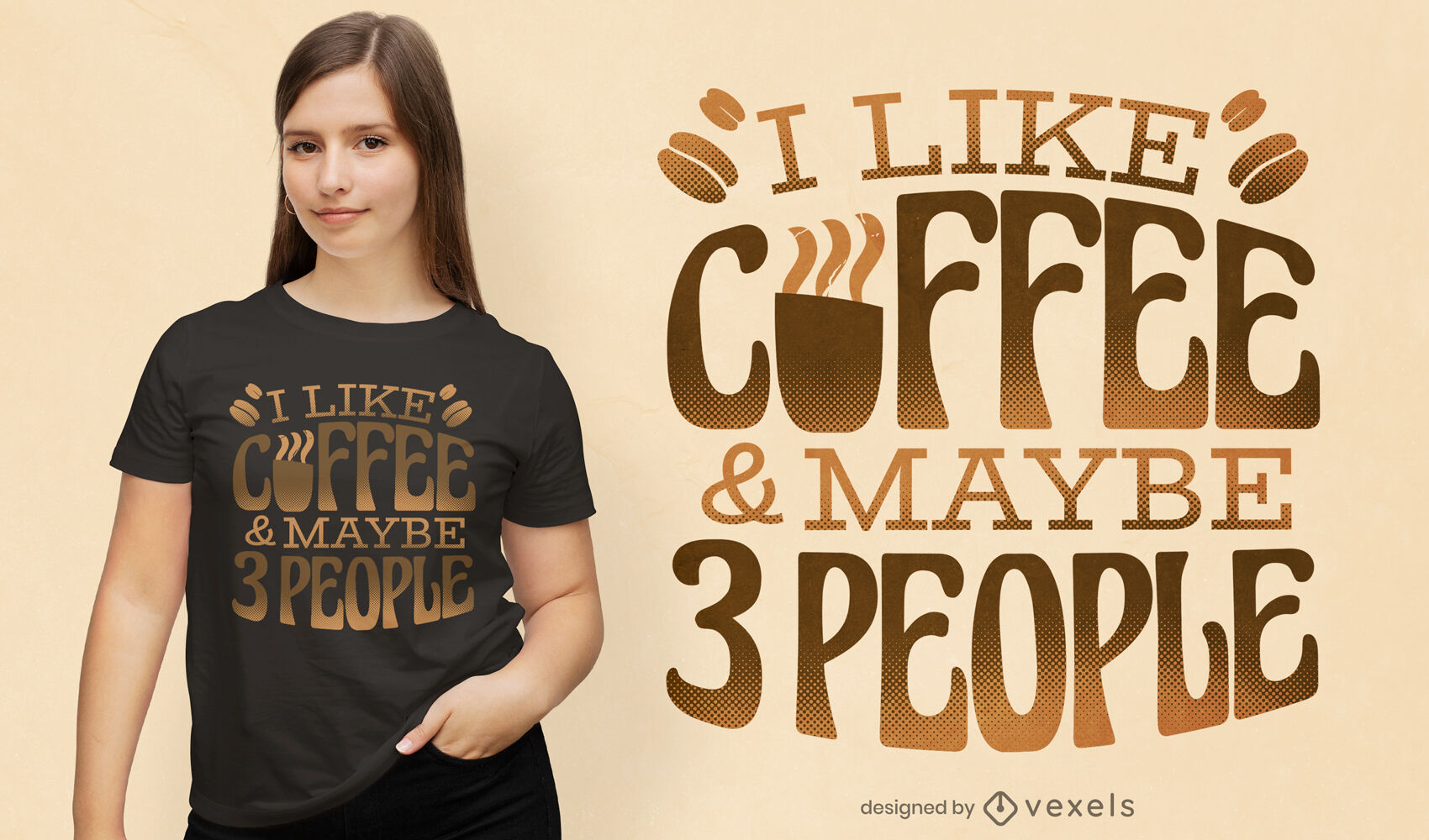 Funny coffee quote t-shirt design