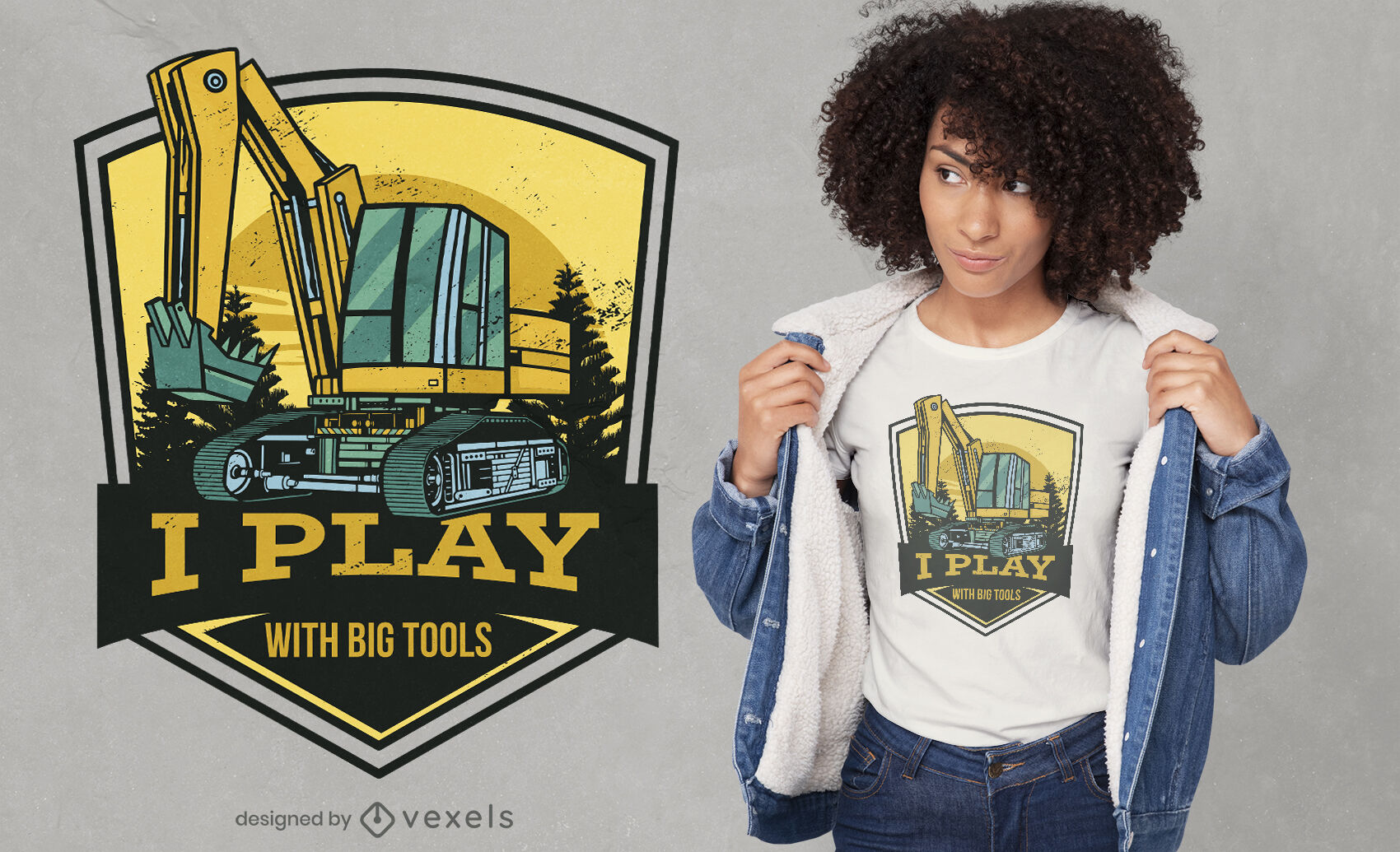 Play with big tools t-shirt design
