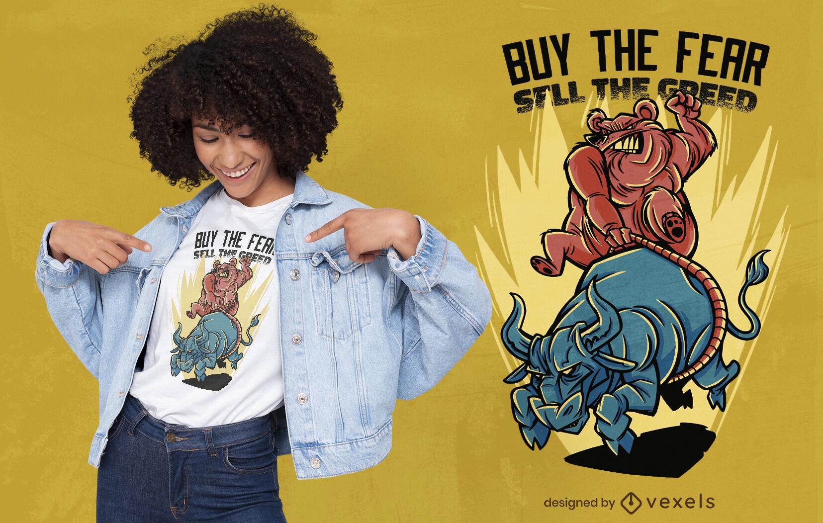 Compra el diseño de la camiseta del miedo