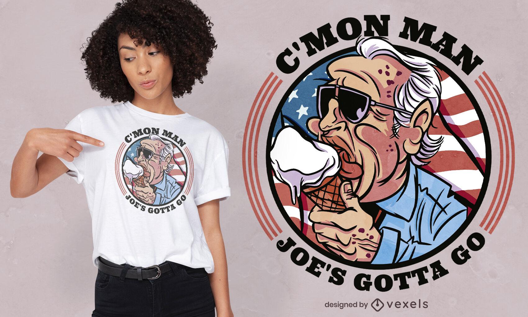 Design engraçado da camiseta Biden