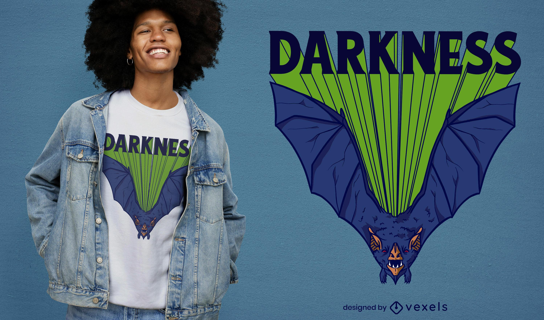 Bat halloween flying t-shirt design