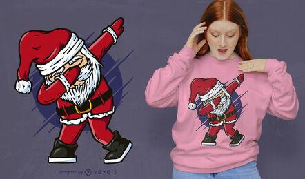 Lustiges betupfendes Weihnachtsmann-T-Shirt-Design