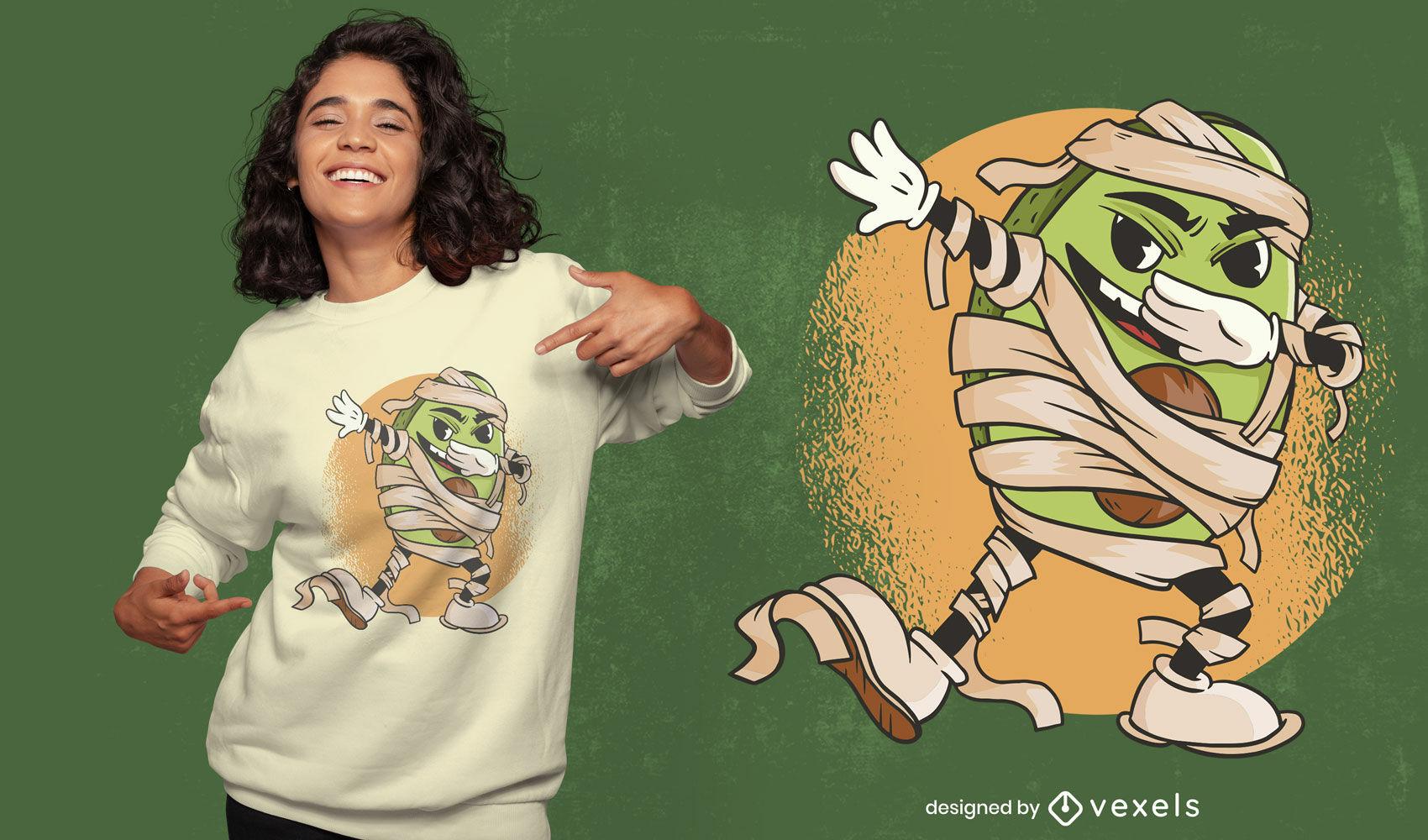 Design legal de t-shirt com abacate para múmia
