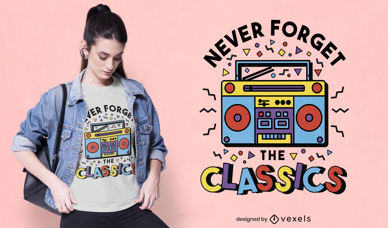 Boombox retro colorful t-shirt design