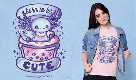 Baby axolotl animal cute t-shirt design