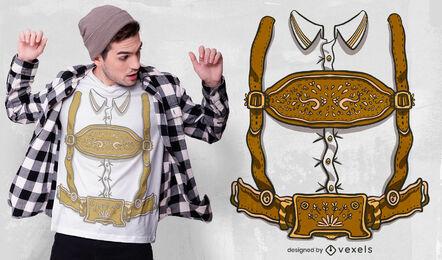 German traditional costume t-shirt design