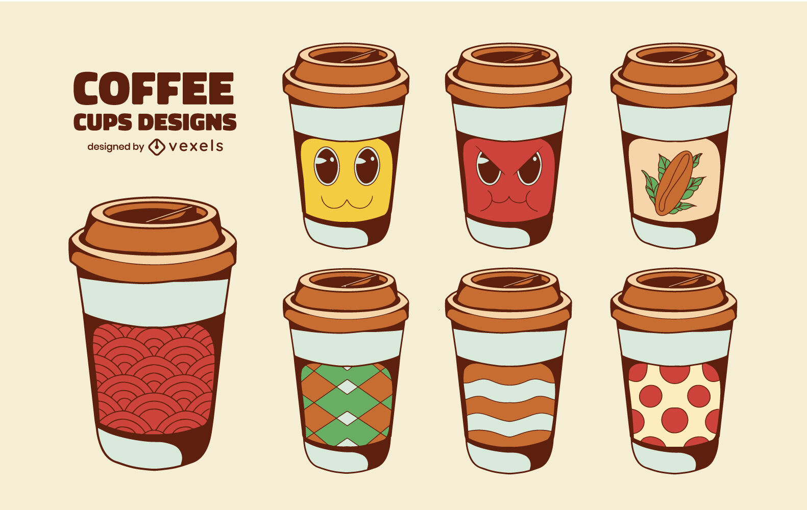 Disposable coffee cups designs drink set