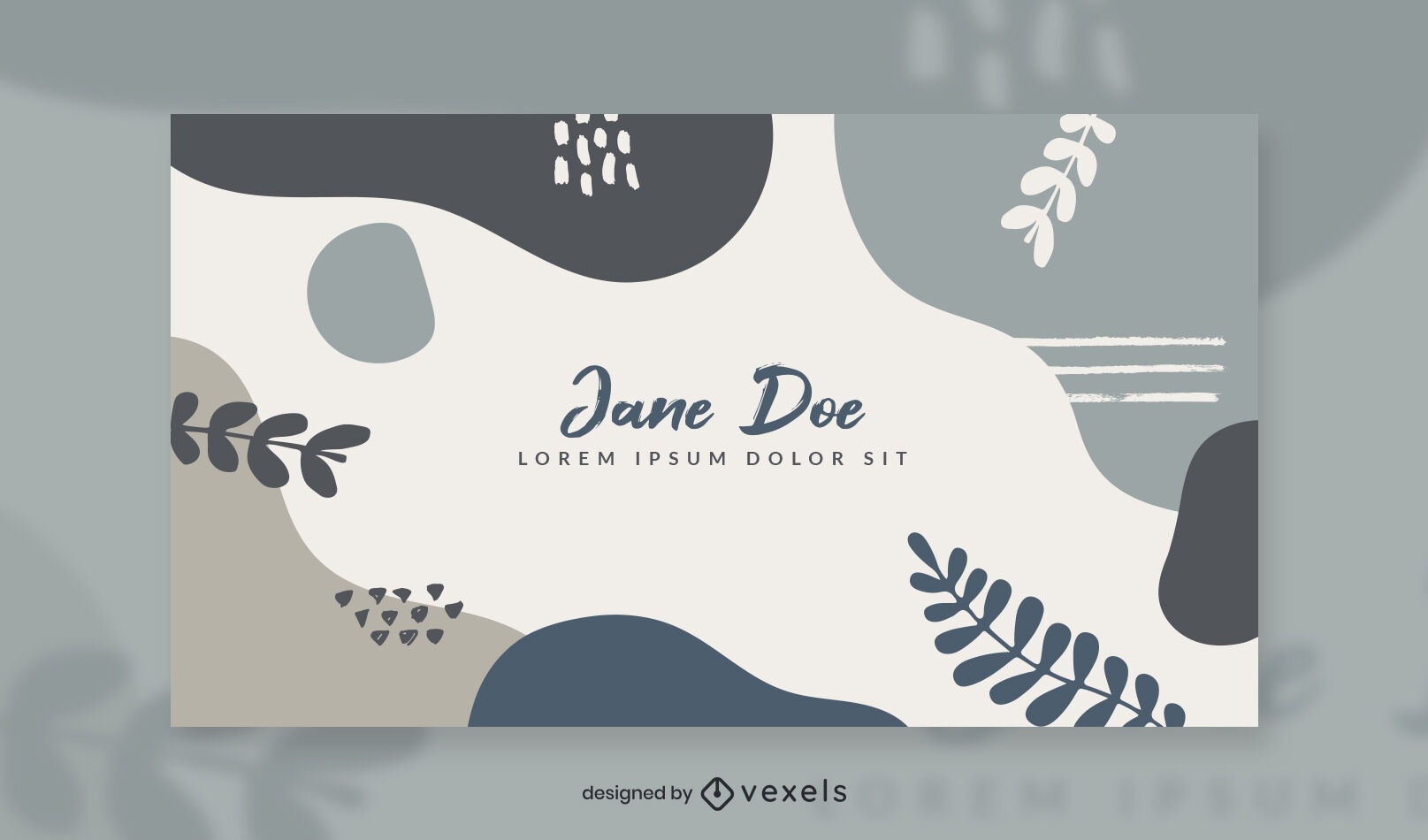 Organic abstract leaves facebook cover template