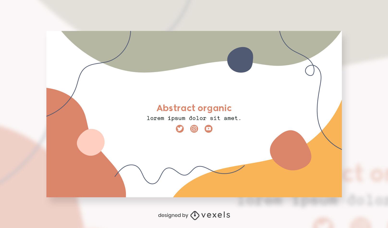 Plantilla de portada de facebook de formas abstractas orgánicas