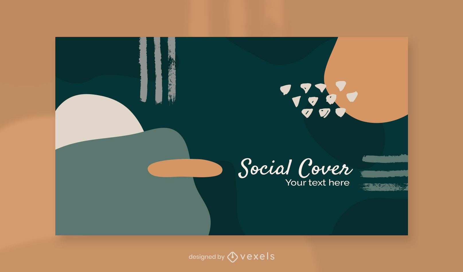 Organic abstract facebook cover template