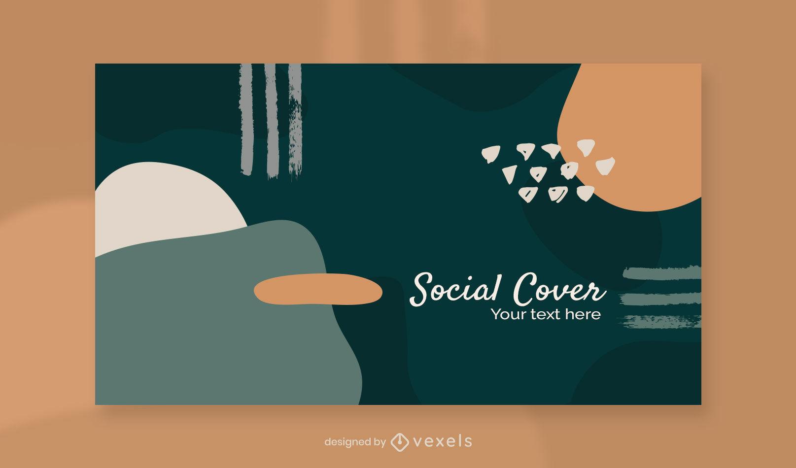 Organische abstrakte Facebook-Cover-Vorlage