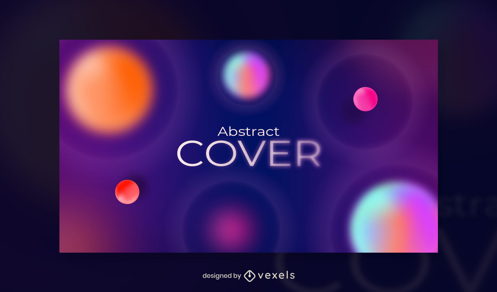 Gradient abstract dots facebook cover template