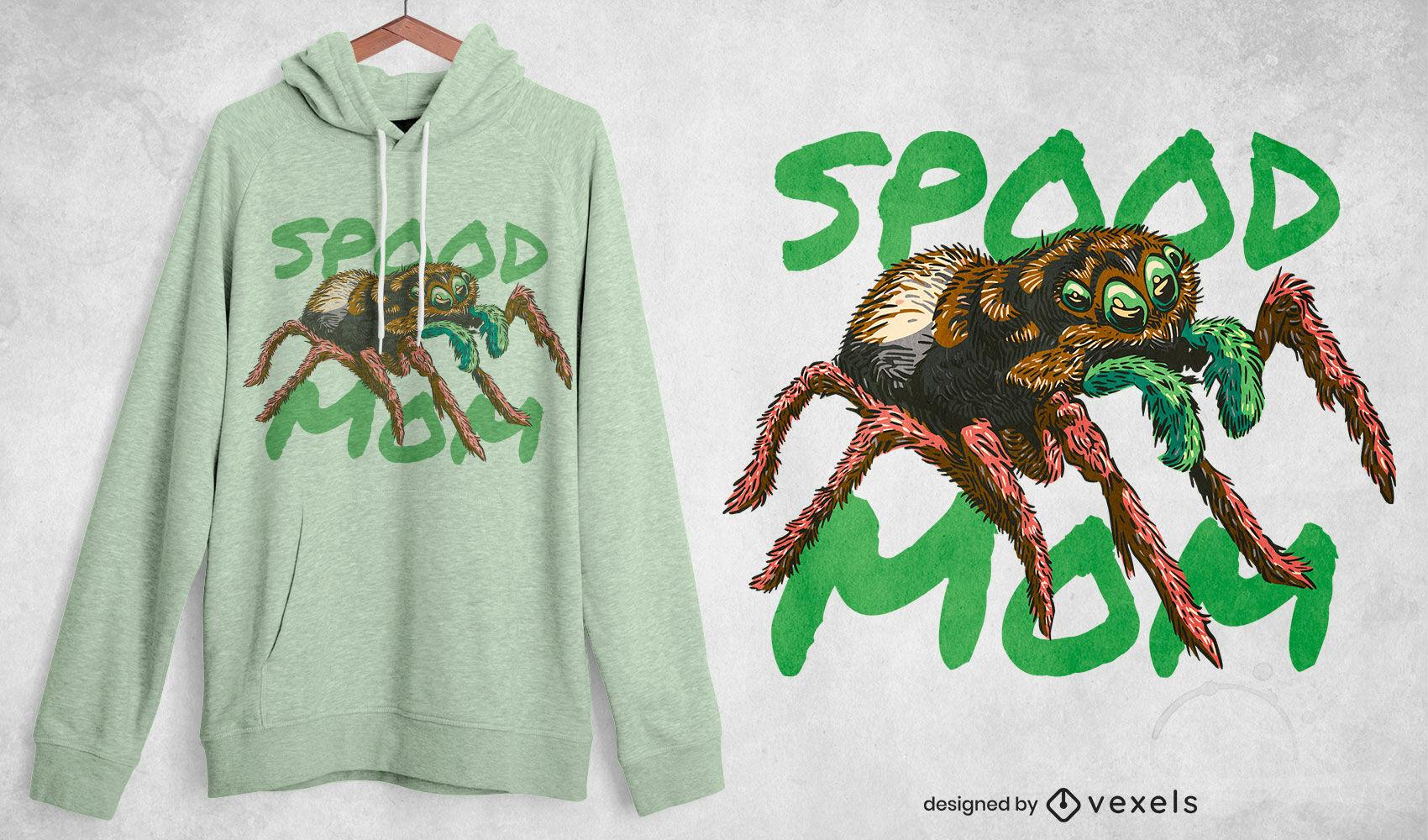 Dise?o de camiseta spider spood mom