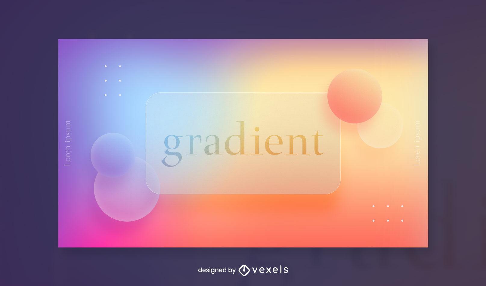 Gradient transparent facebook cover template