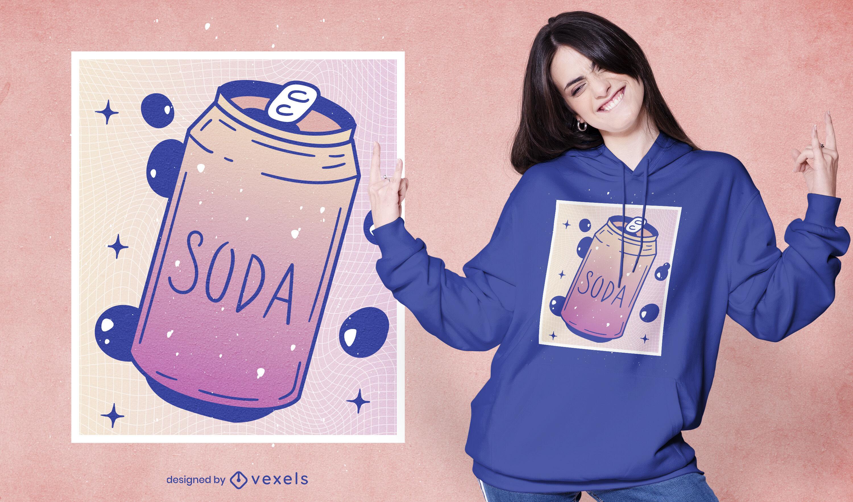 Vaporwave soda can t-shirt design