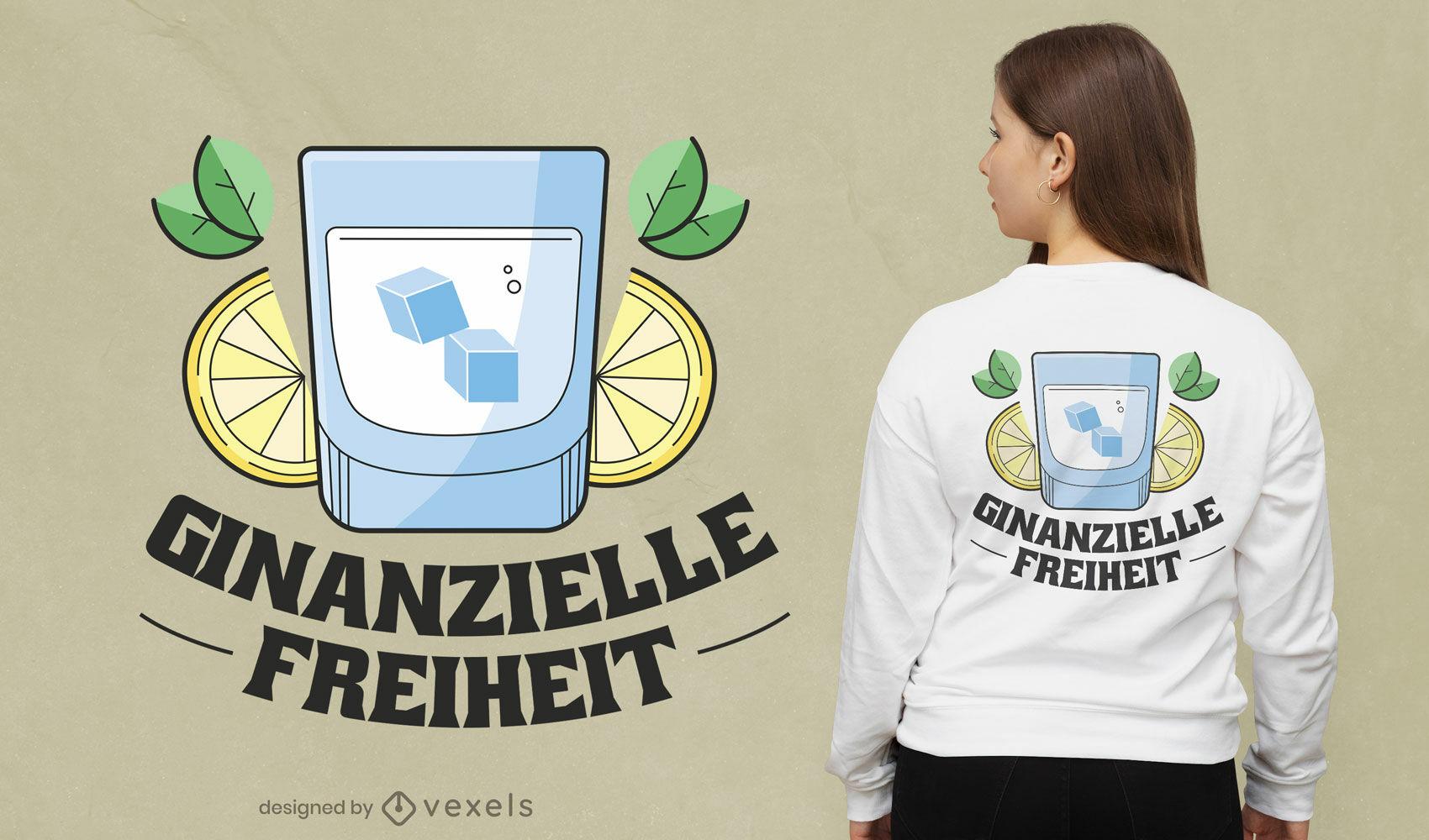 Genial diseño de camiseta de Ginanzielle freiheit