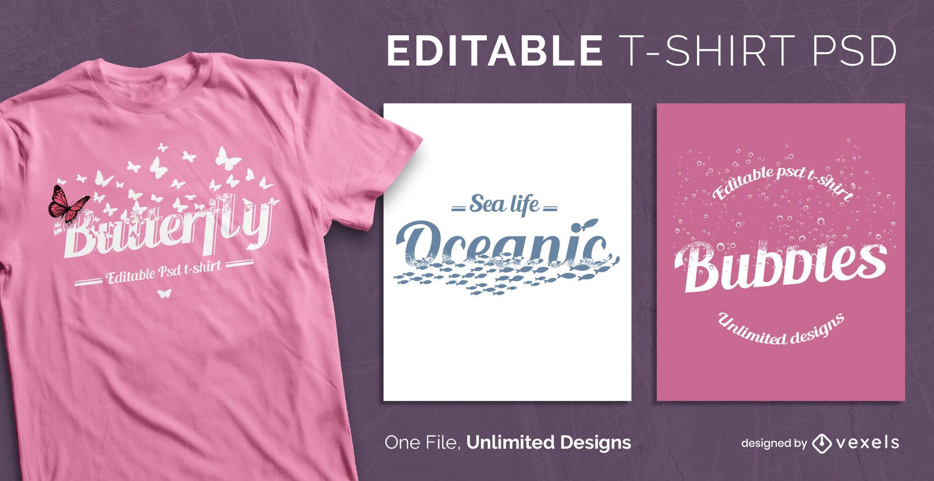 Dissolving shape scalable t-shirt template