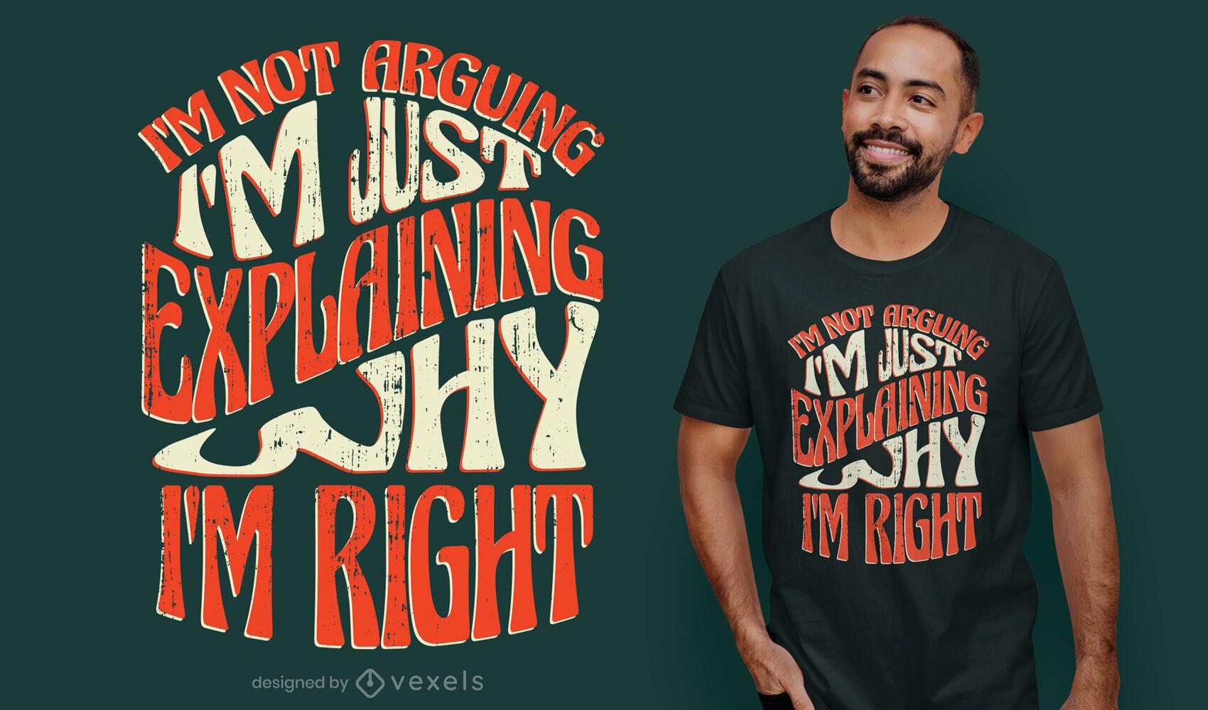 No estoy discutiendo el diseño de la camiseta