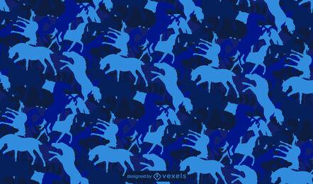 Diseño de patrón animal monocromático de caballo.