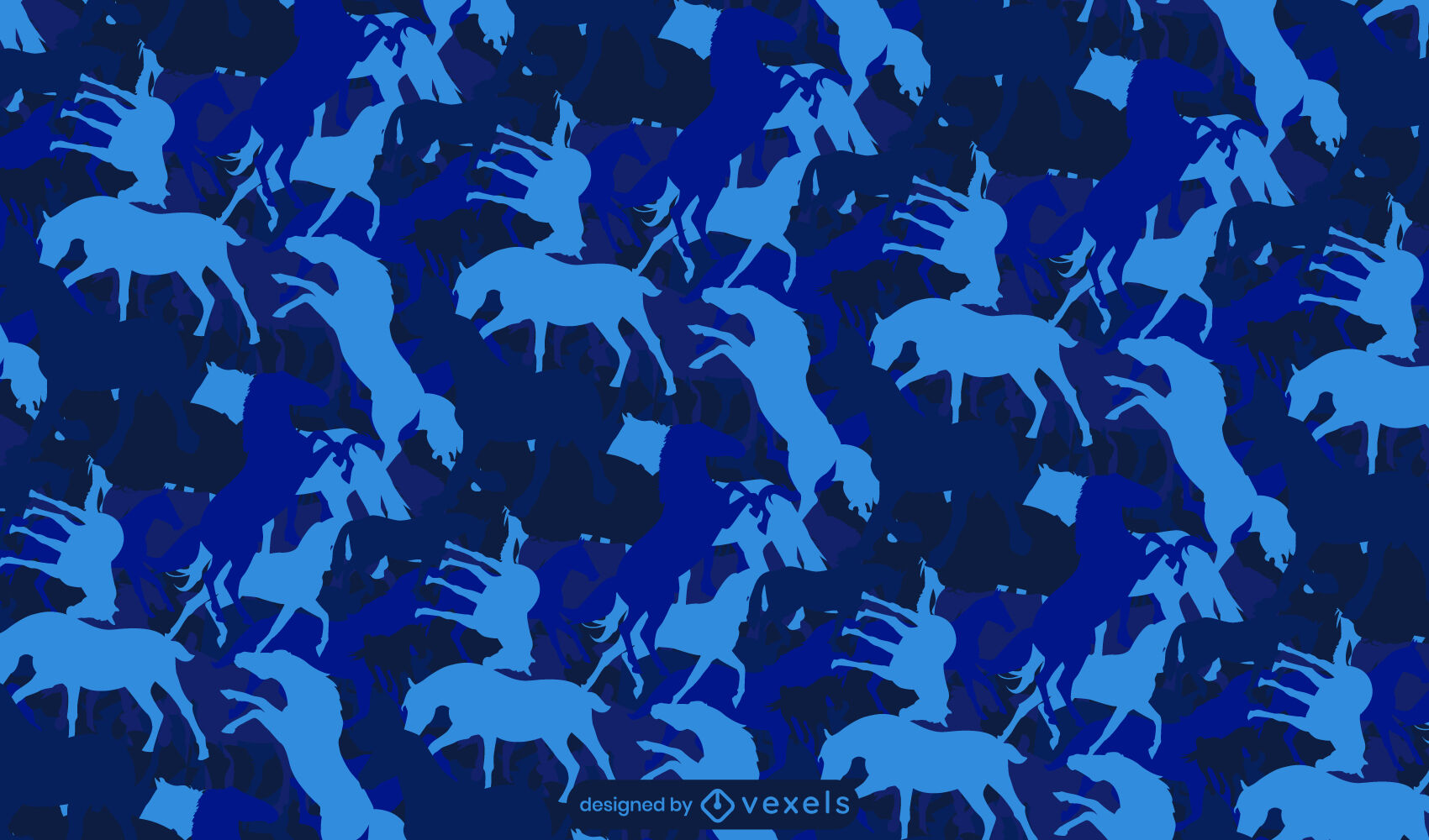 Horse monochromatic animal pattern design