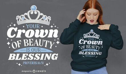 Religious quote crown t-shirt design