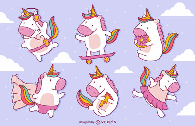 Baby unicorn cute creature magical set