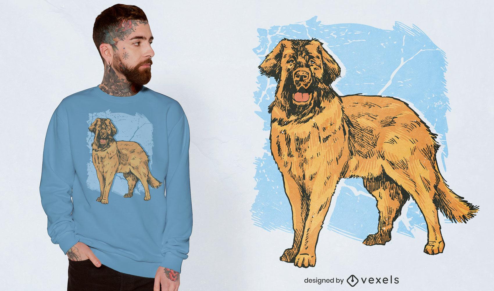 Diseño de camiseta de animal doméstico de perro alemán.