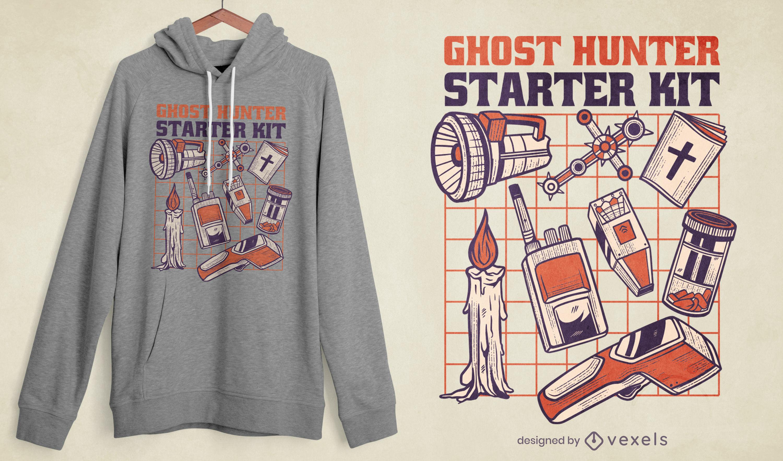 Ghost hunter equipment kit t-shirt design