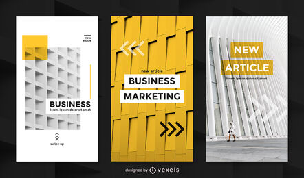 Architecture textures yellow instagram story template
