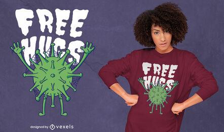 Coronavirus hugs funny t-shirt design