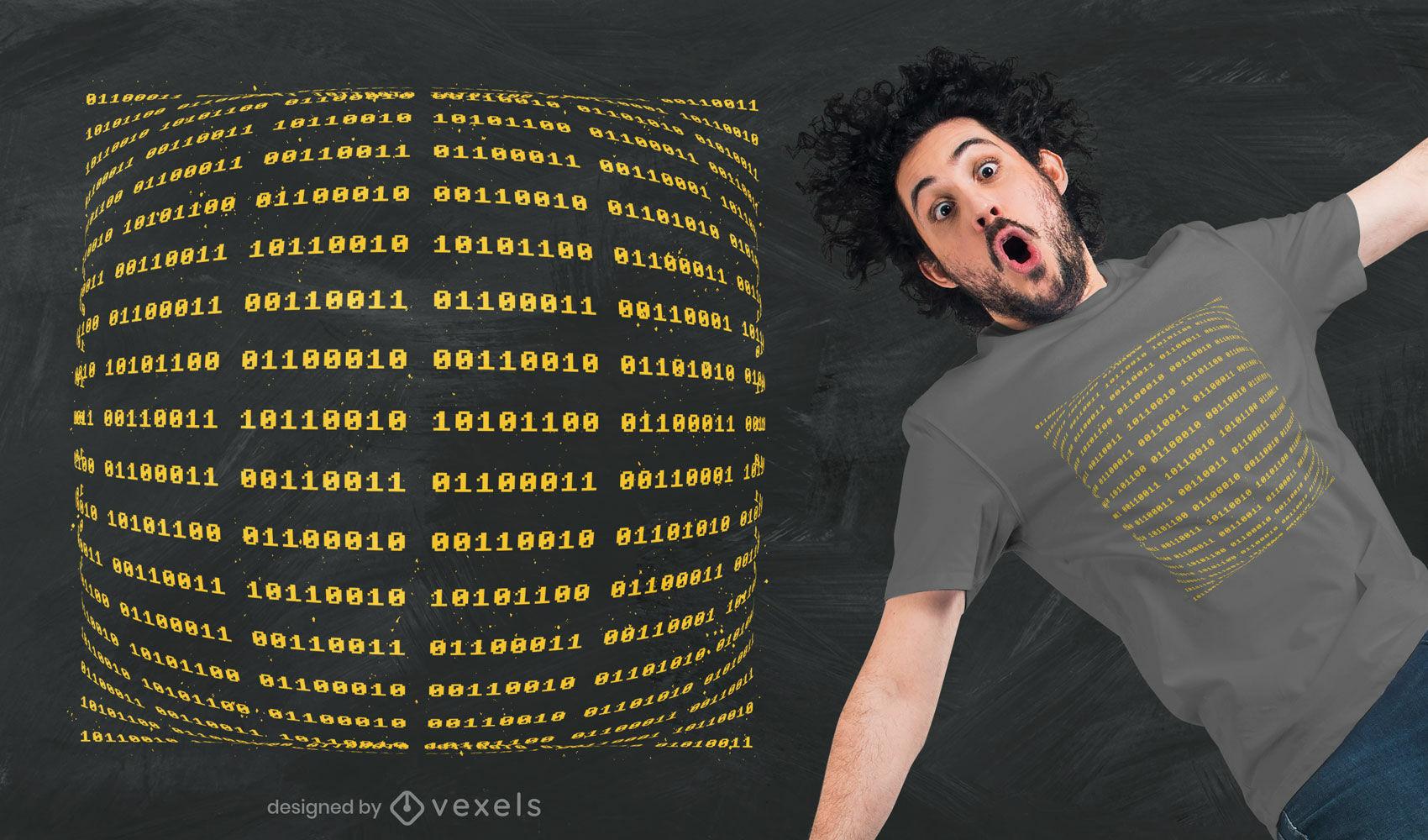 Dise?o de camiseta de c?digo binario.