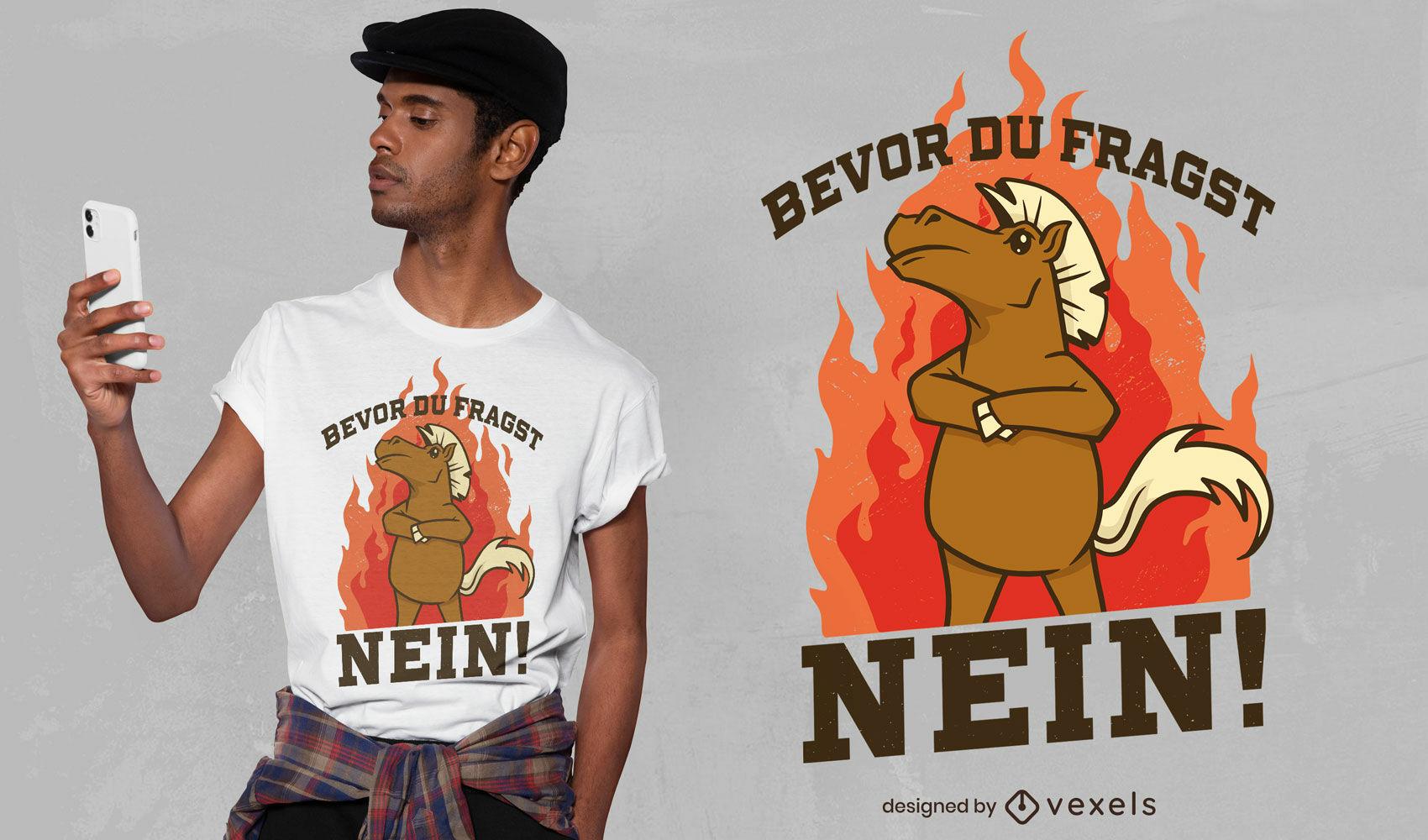 Design legal de t-shirt do cavalo louco