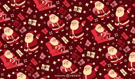 Diseño de patrón de temporada navideña de santa claus