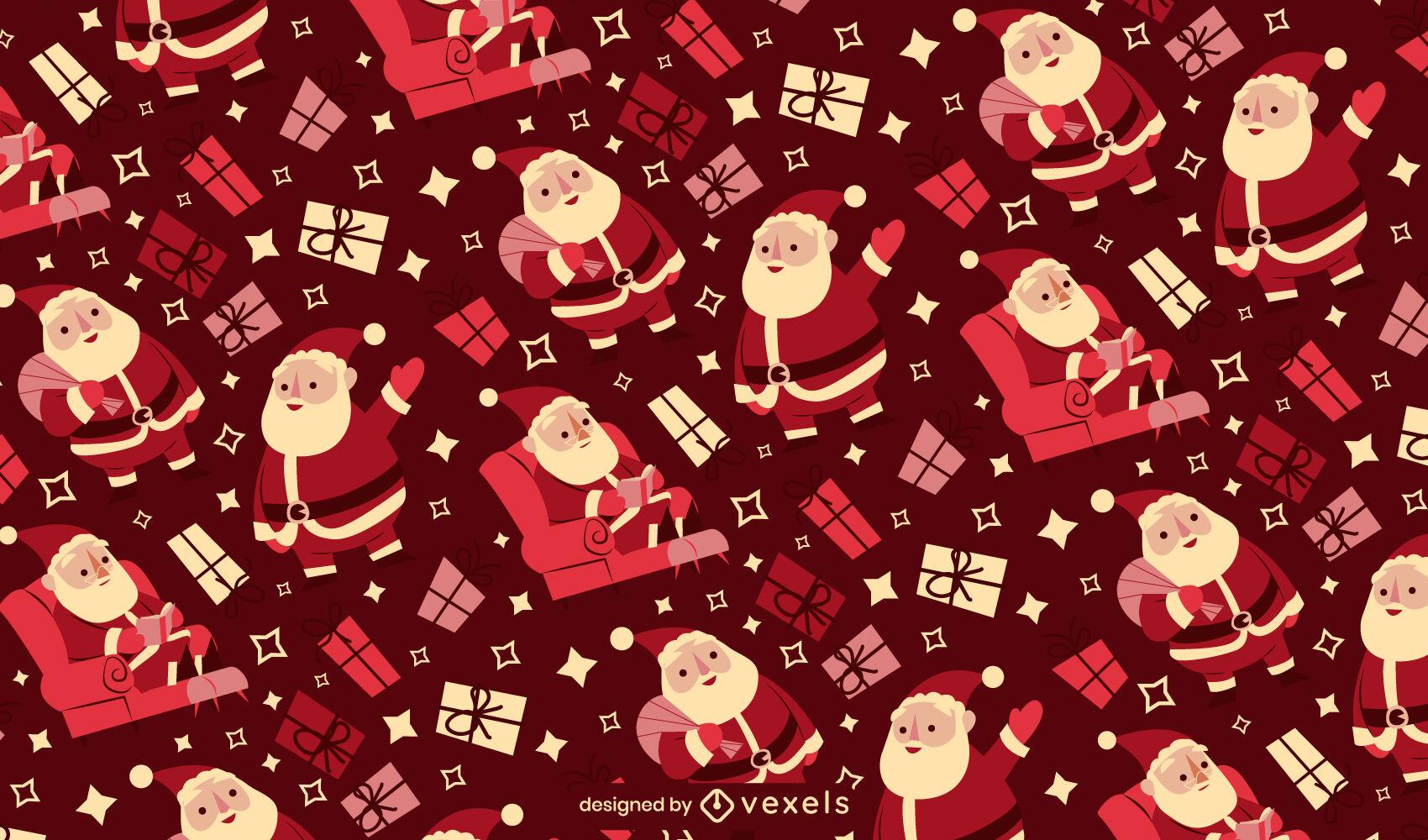 Weihnachtsmann-Weihnachtsjahreszeit-Musterdesign