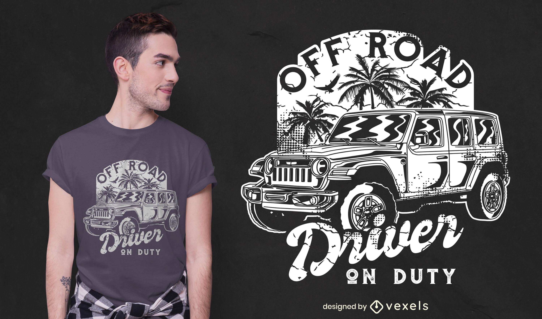 Design de camiseta para motorista off road