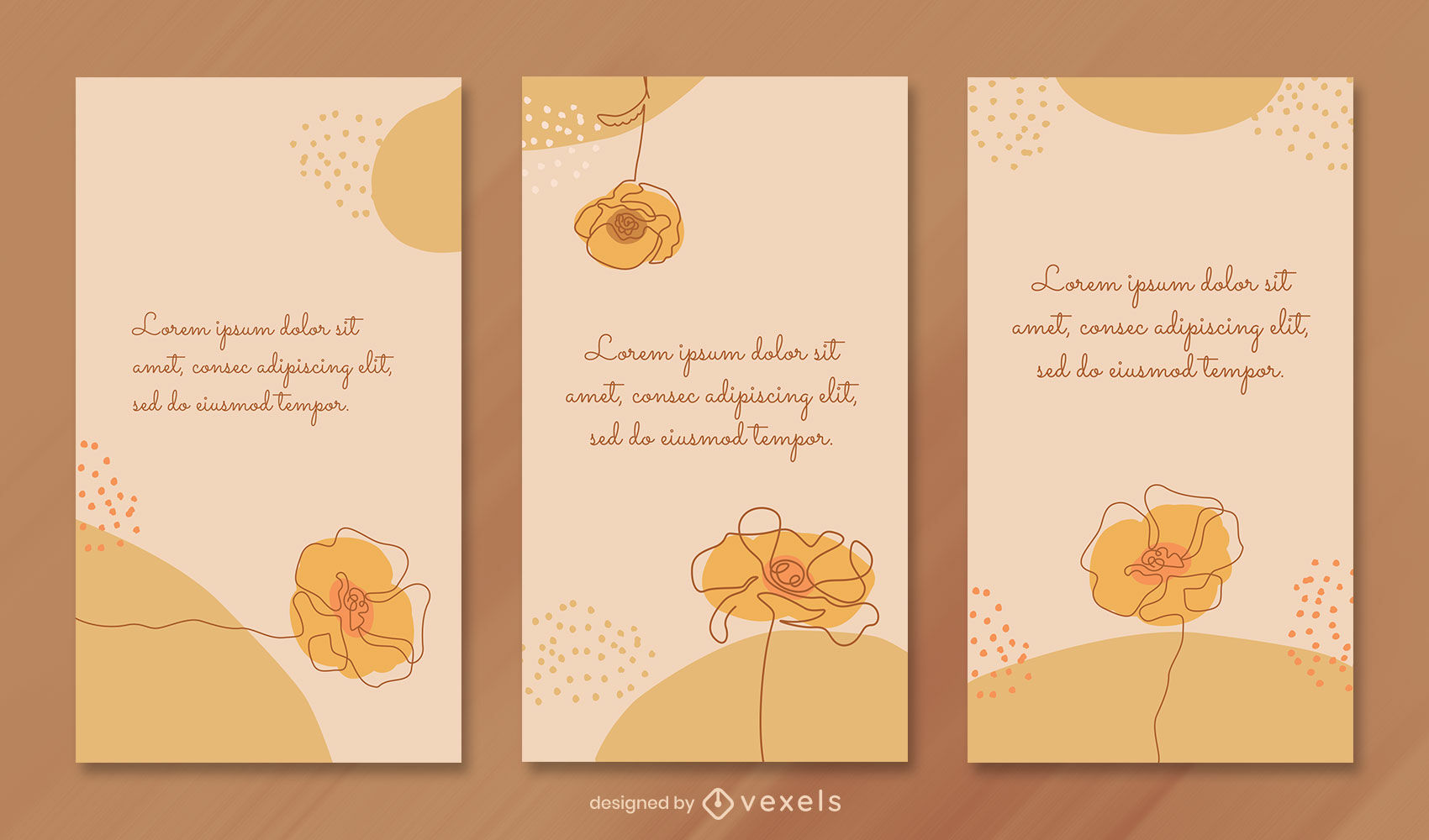 Continuous line yellow instagram story template