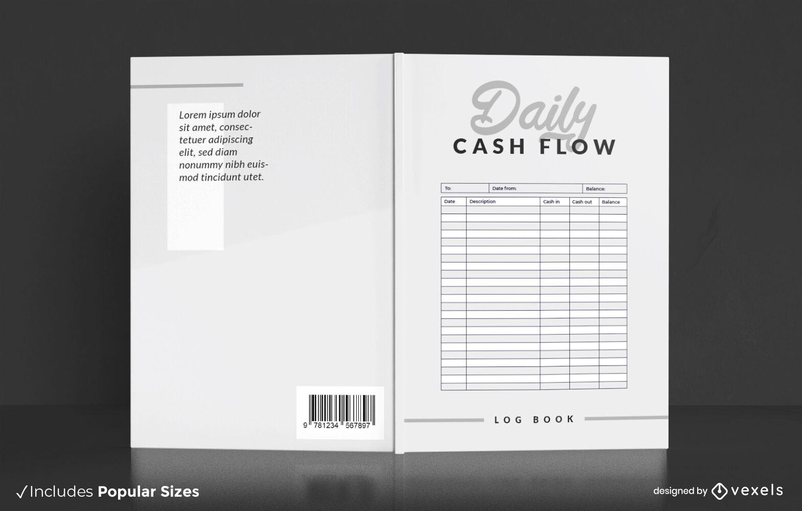 Gestaltung des Buchcovers der Tabellenkalkulationsdatenbank