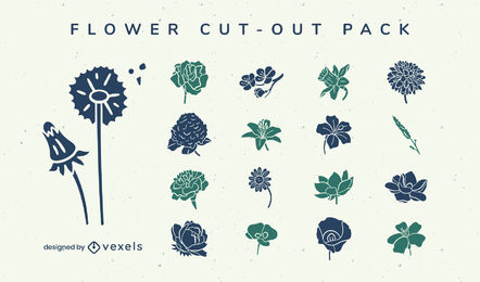 Jardín de flores plantas naturaleza corte paquete