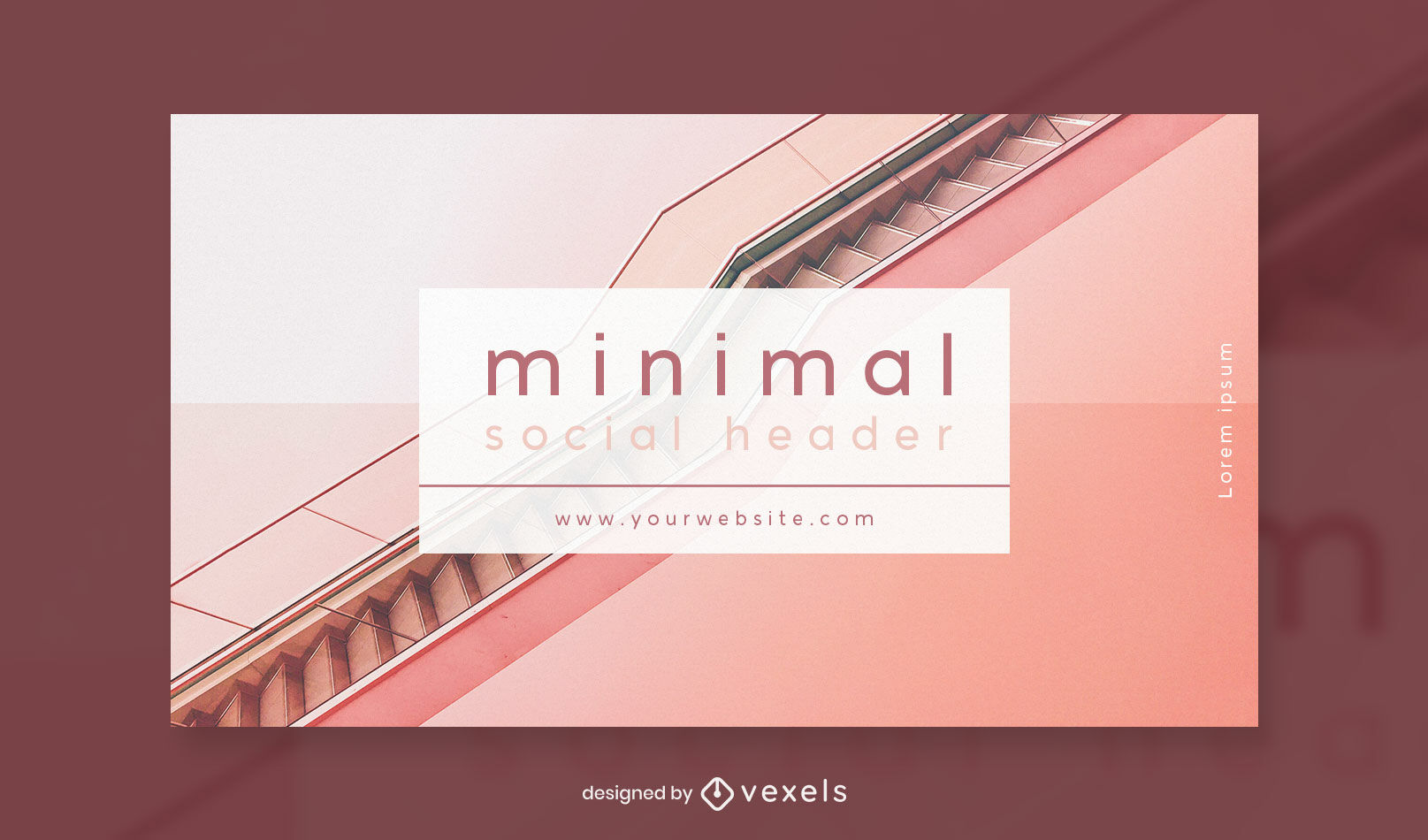 Minimal photographic stairs facebook cover template