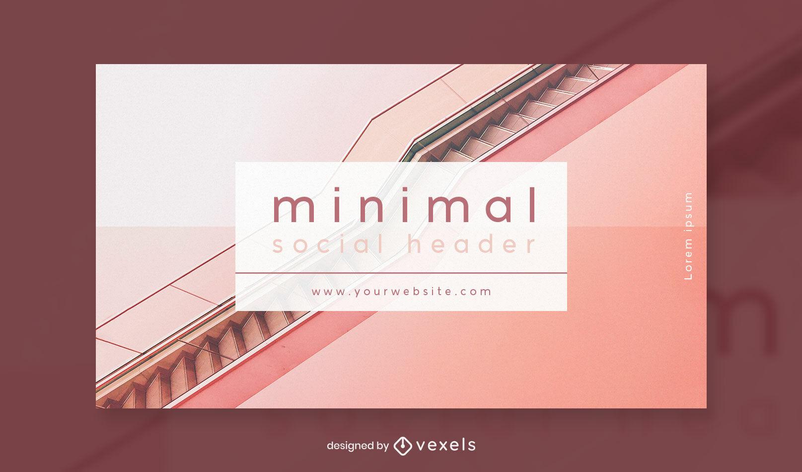 Plantilla de portada de facebook de escaleras fotográficas mínimas