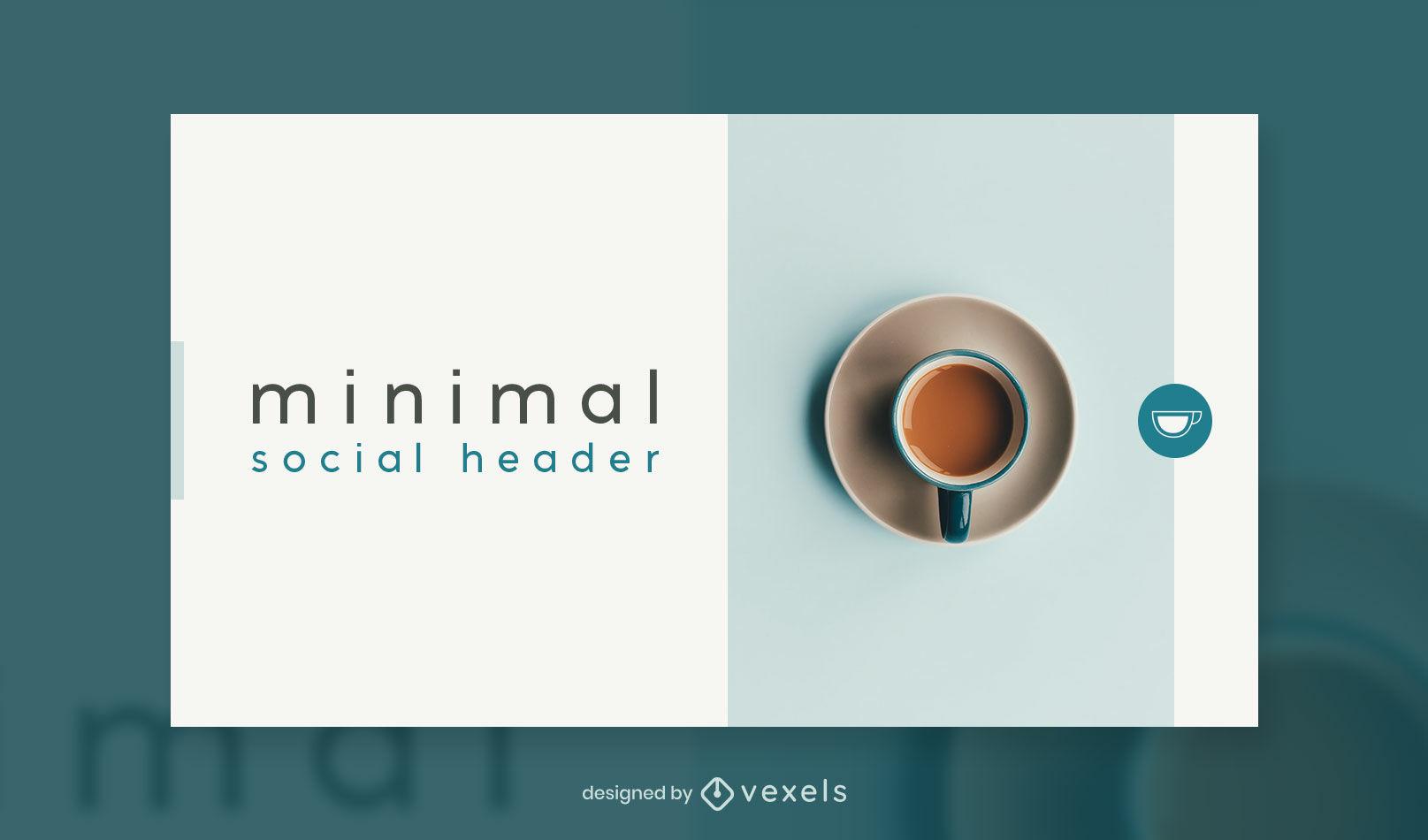 Café mínimo de la plantilla de portada de facebook superior