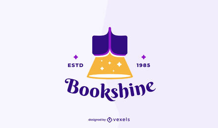 Reading books business logo template