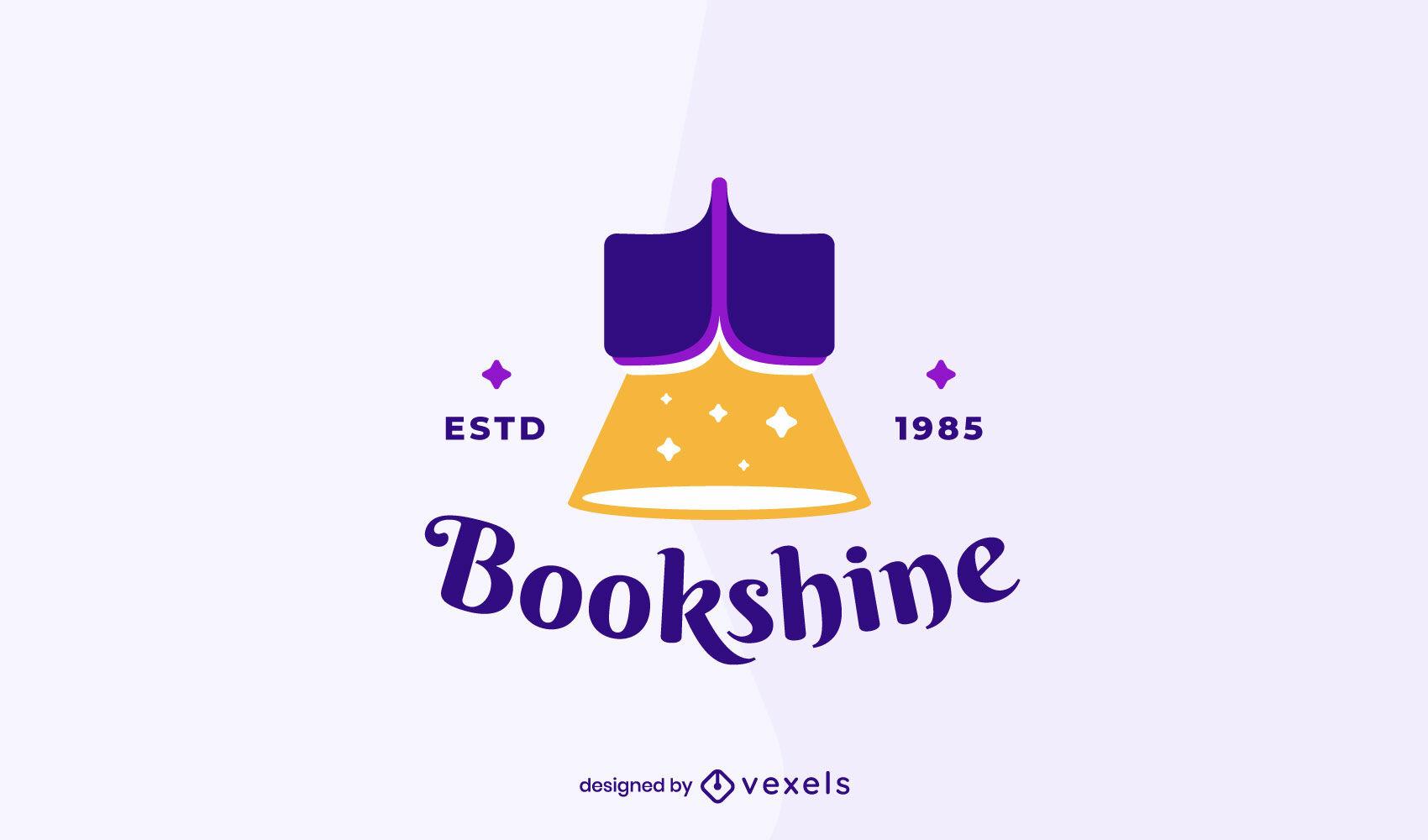 Modelo de logotipo de negócios de leitura de livros