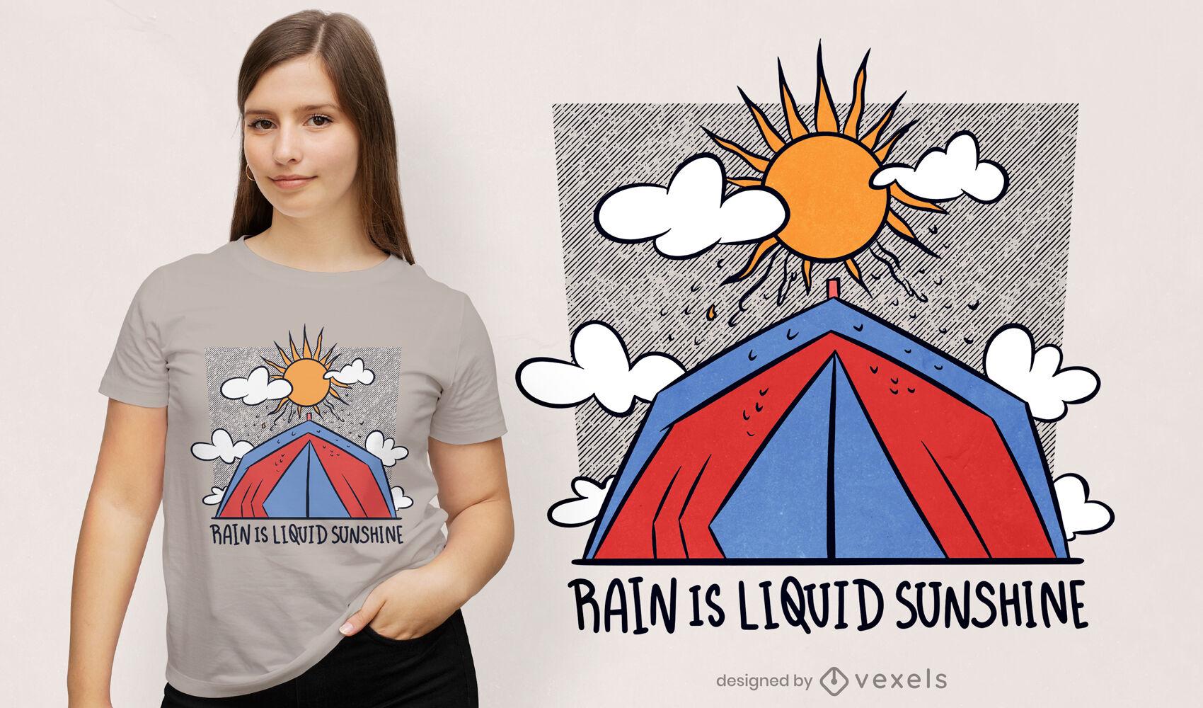 Design fofo de camiseta de acampamento